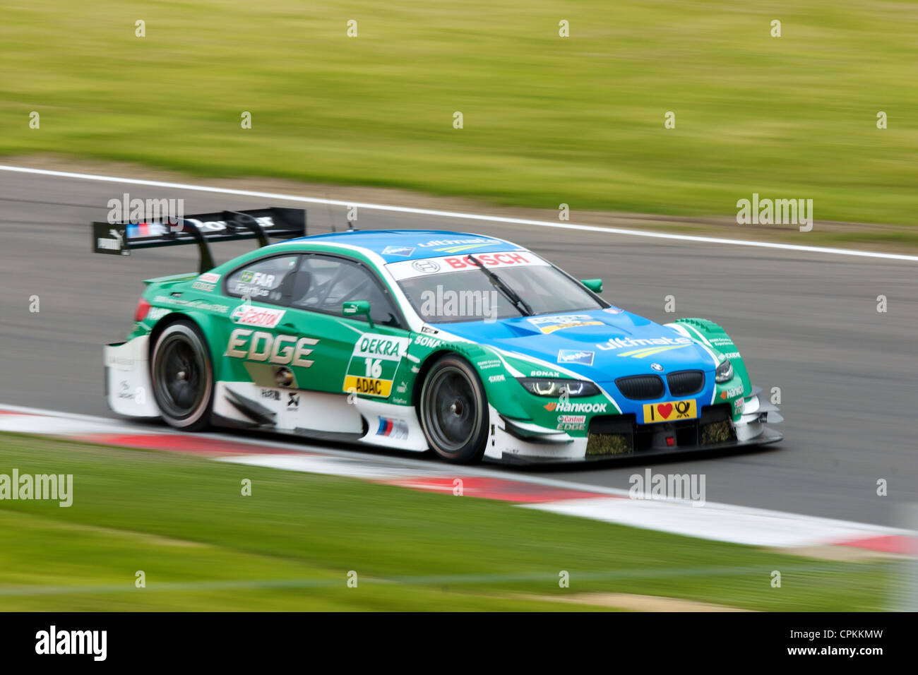 Augusto Farfus in a BMW DTM car at Brands Hatch 2012 - Stock Image