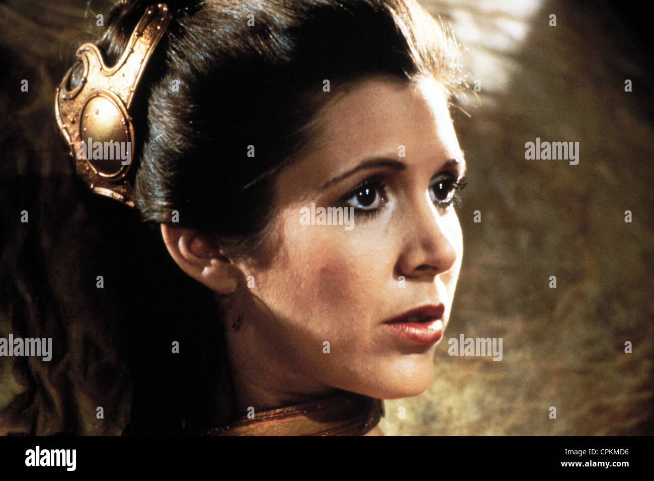 A portrait of Carrie Fisher in the 1983 film The Return of the Jedi. She plays the part of Princess Leia Organa. - Stock Image