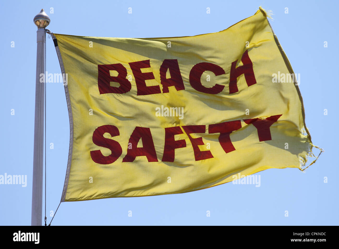 Safe British Beaches Beach Safety - Stock Image