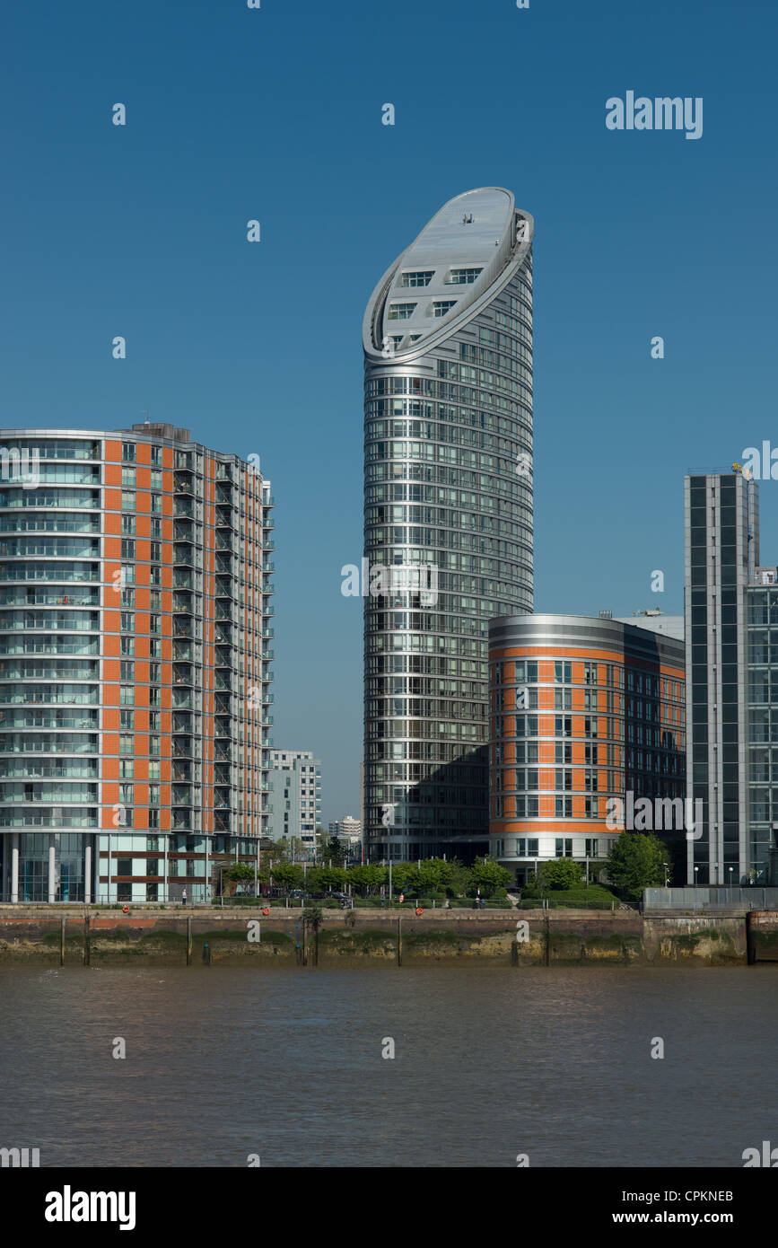 Ontario Tower, New Providence Wharf, Docklands, London, United Kingdom. - Stock Image