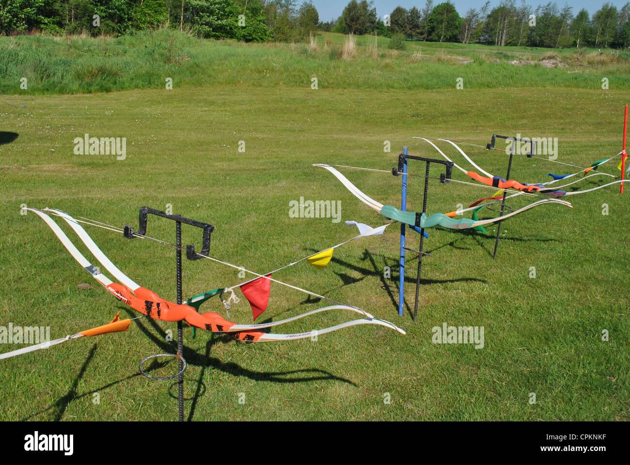 archery bows - Stock Image