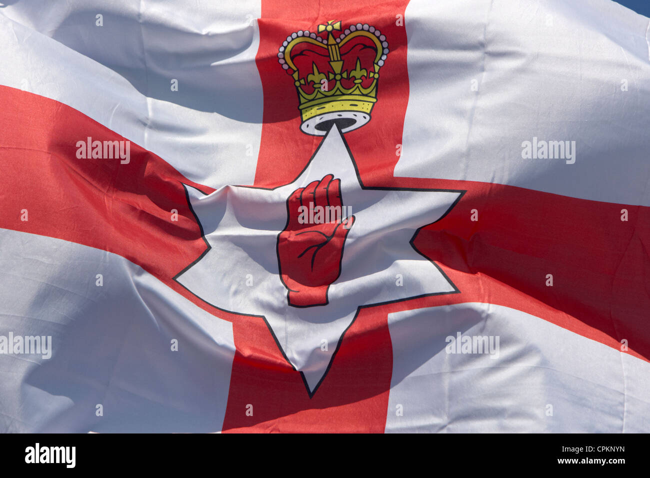 now defunct flag of the former government of northern ireland the flag is still used as the ulster flag by some - Stock Image
