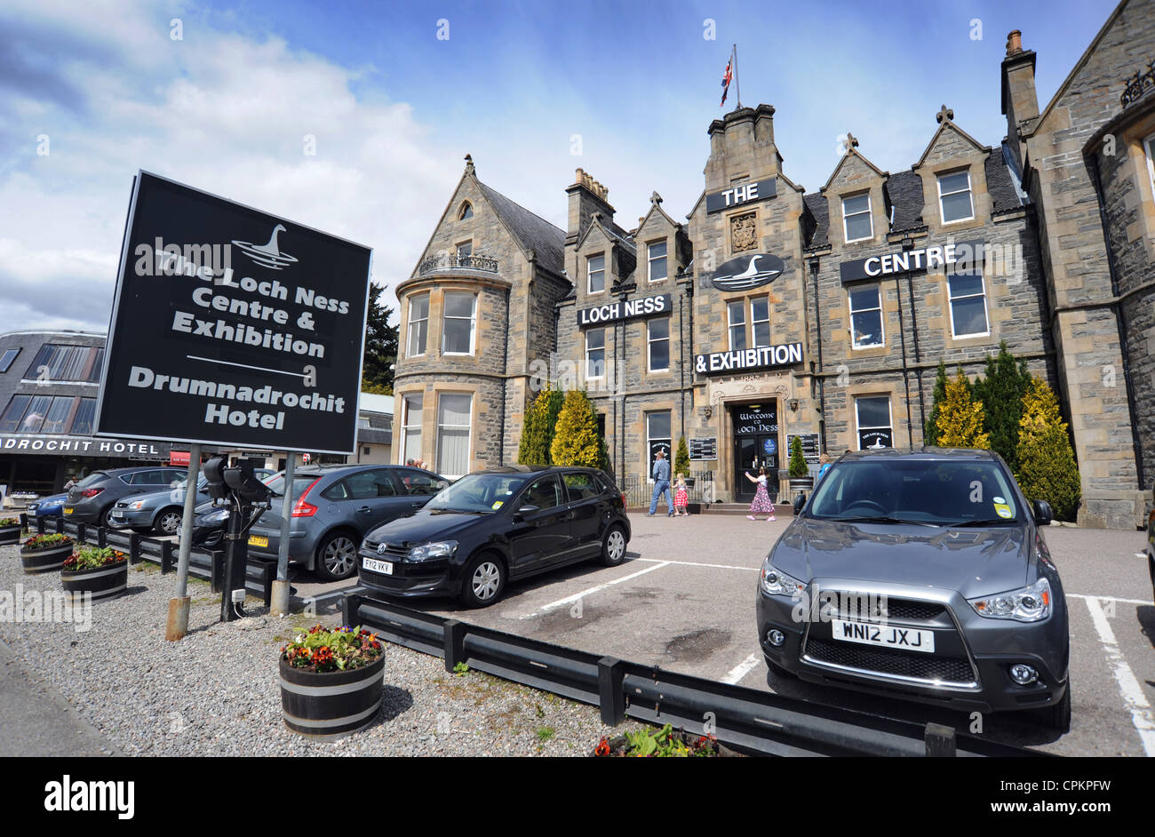 THE LOCH NESS CENTRE AND EXHIBITION AT DRUMNADROCHIT SCOTLAND RE MONSTER SIGHTINGS ETC UK - Stock Image