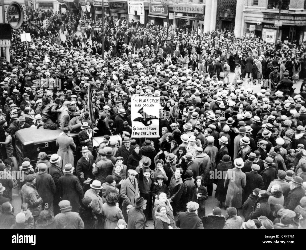 Rally in New York against the persecution of Jews in Germany, 1933 - Stock Image