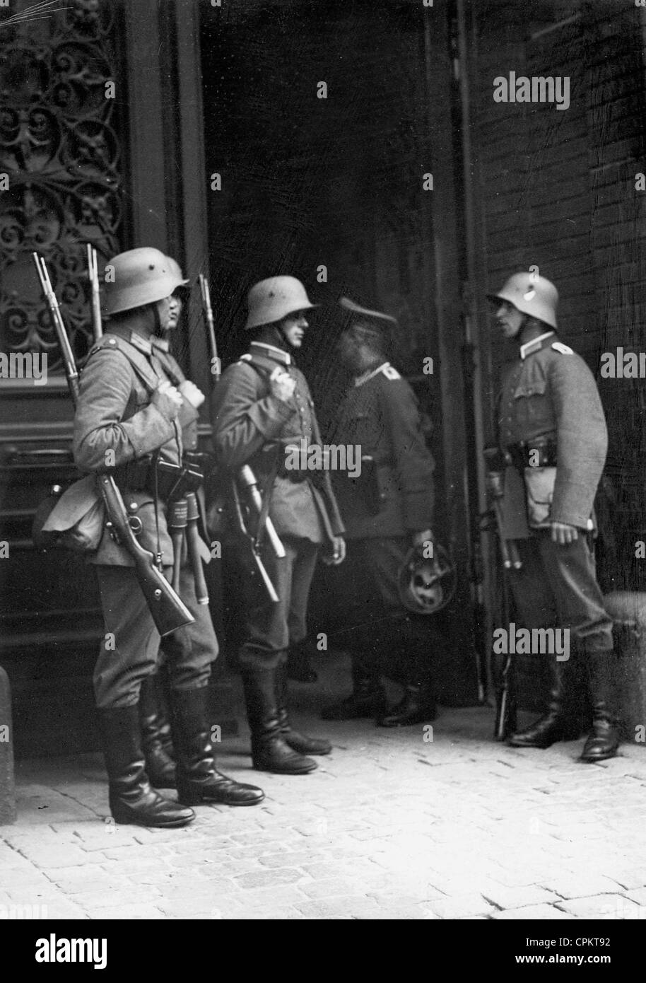 Occupation of the Berlin Police Presidium by the Reich Defense Force, 1932 - Stock Image