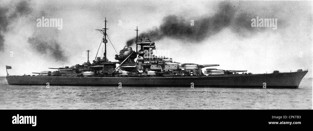 german battleship bismarck 1941 b w photo stock photo 48379383