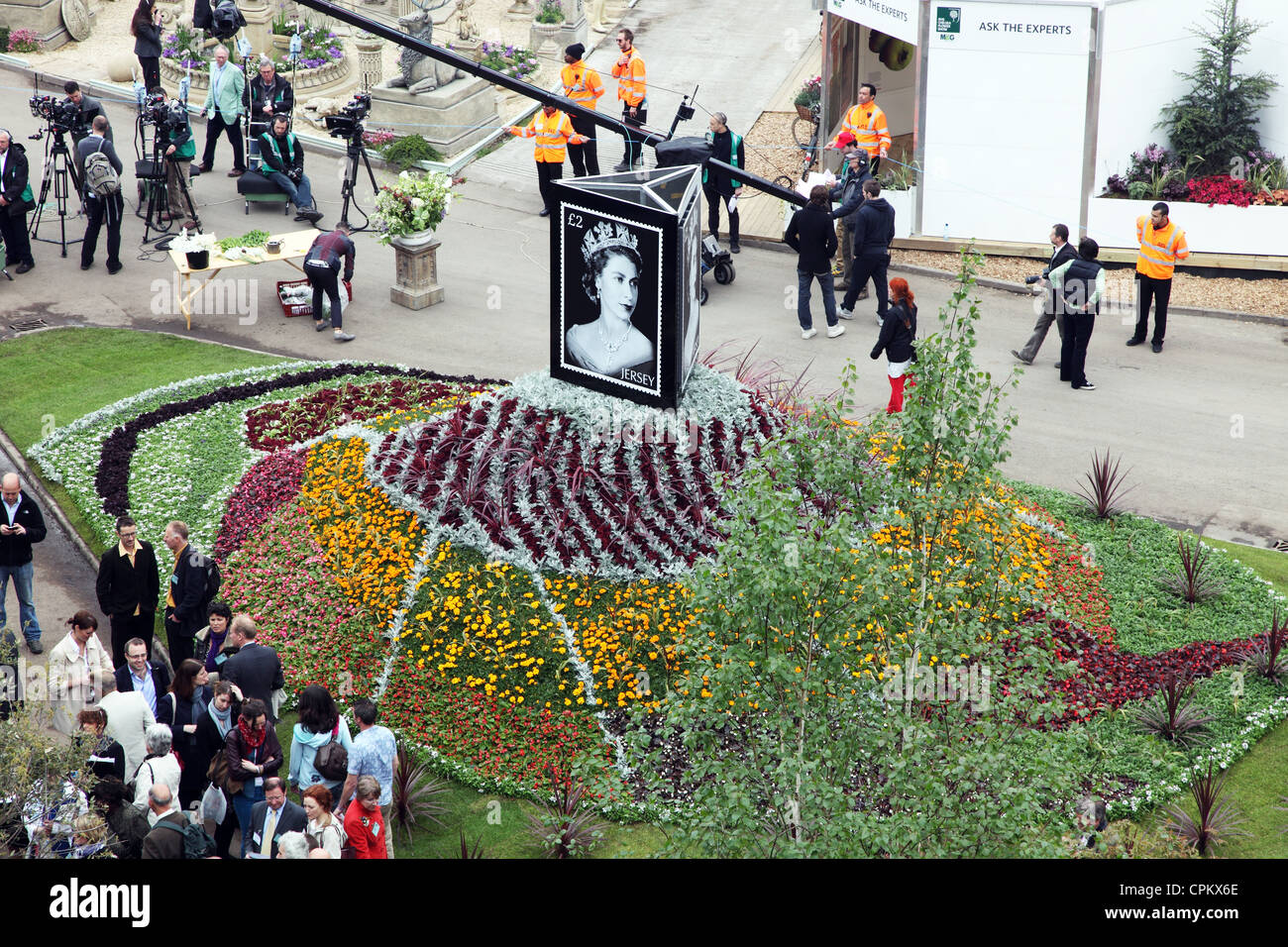 Jersey Floral display on Press Day, Chelsea Flower Flower Show 2012 - Stock Image