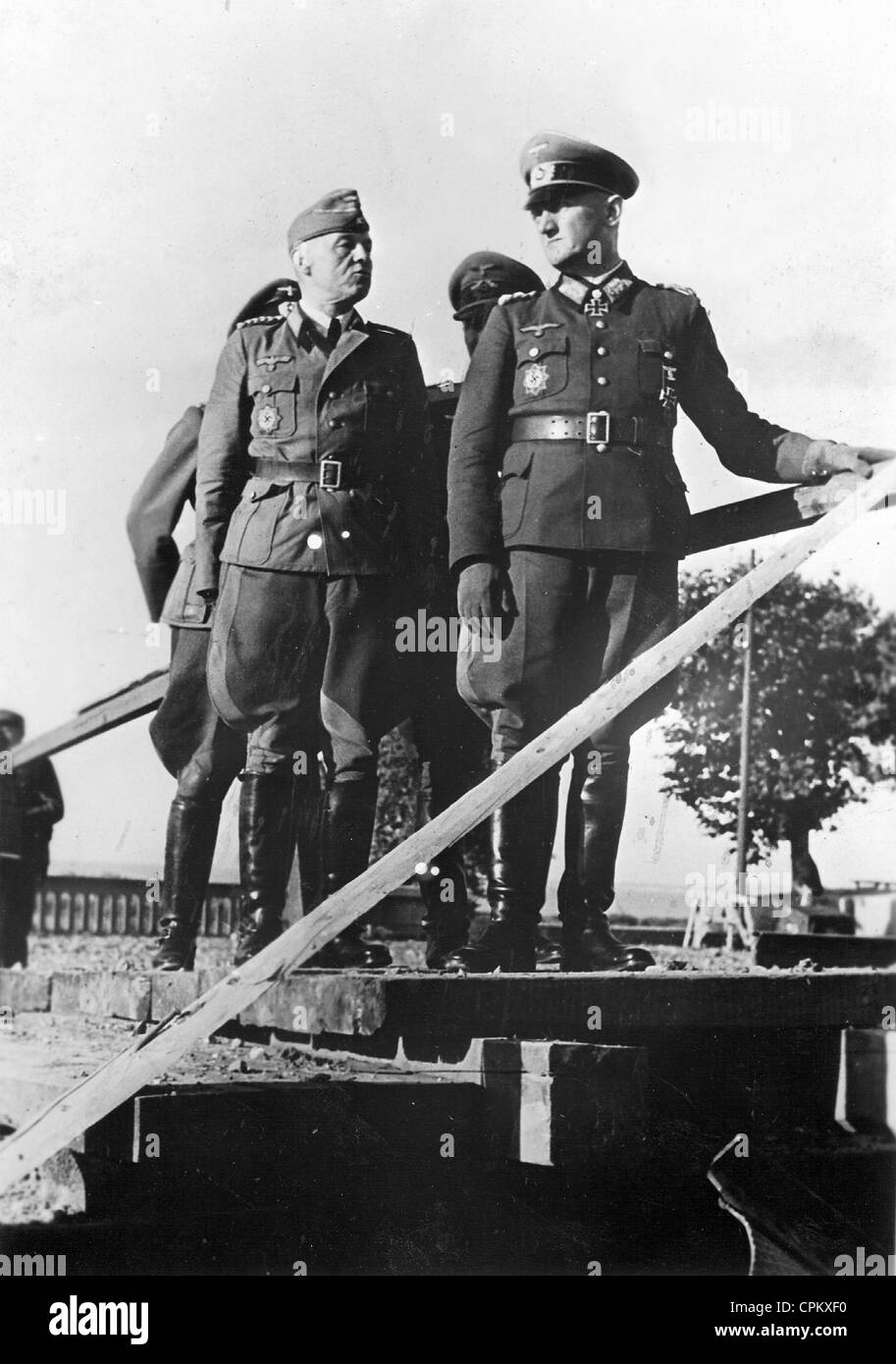 General Friedrich Wiese in southern France, 1944 - Stock Image