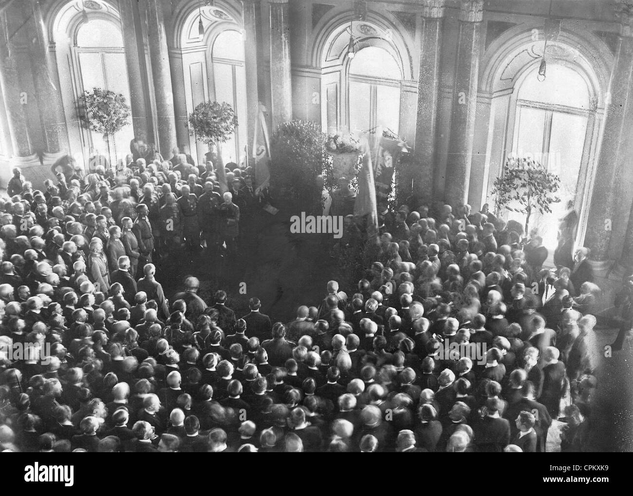 Proclamation of the Kingdom of Poland in the First World War, 1916 - Stock Image