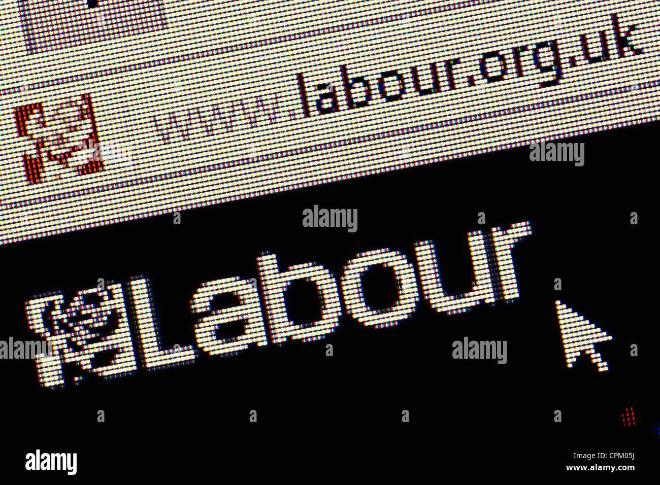 Labour Party UK logo and website close up - Stock Image