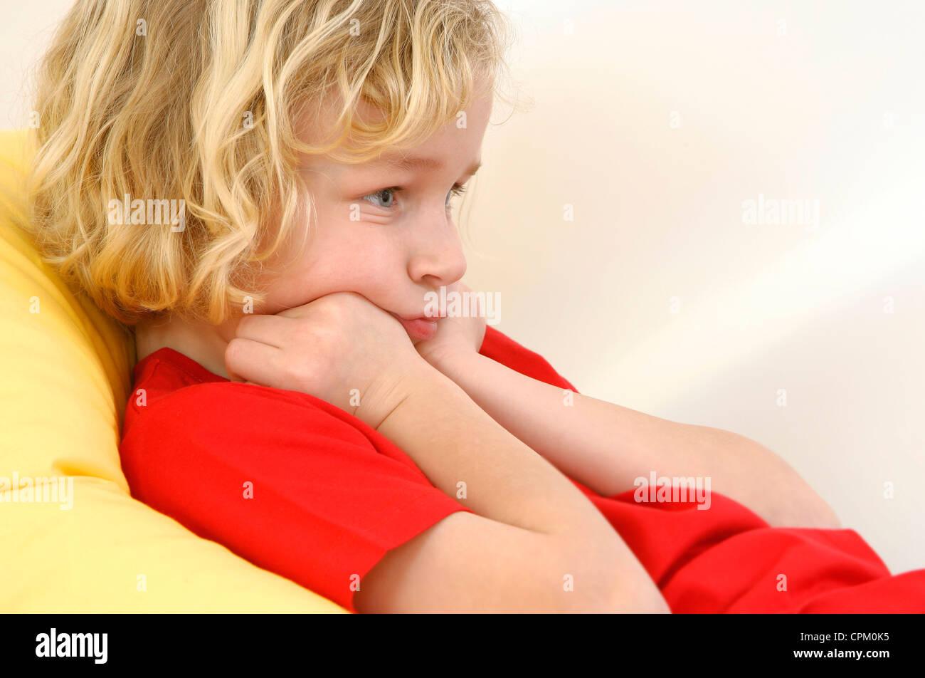 CHILD BOREDOM - Stock Image