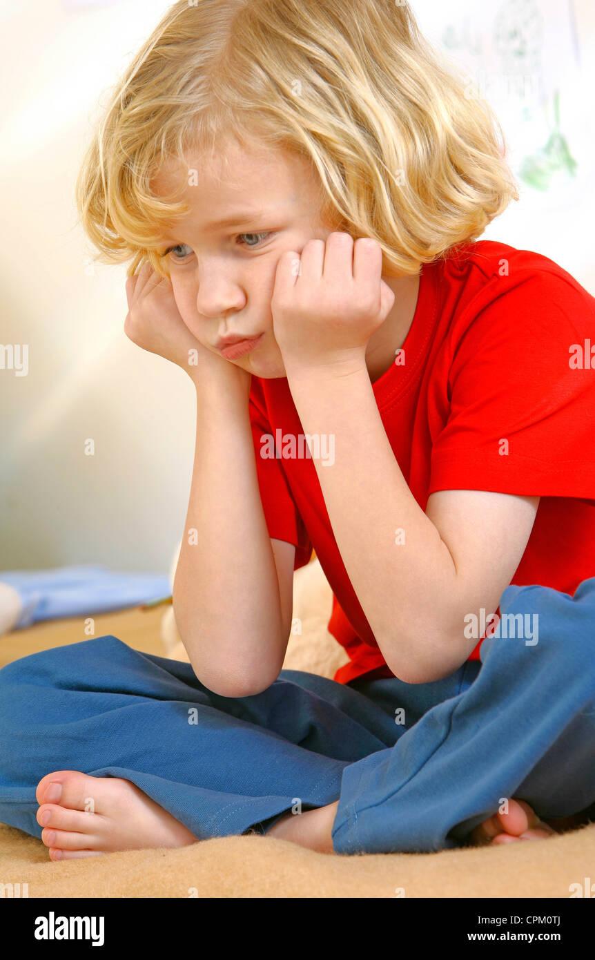 CHILD BOREDOM Stock Photo