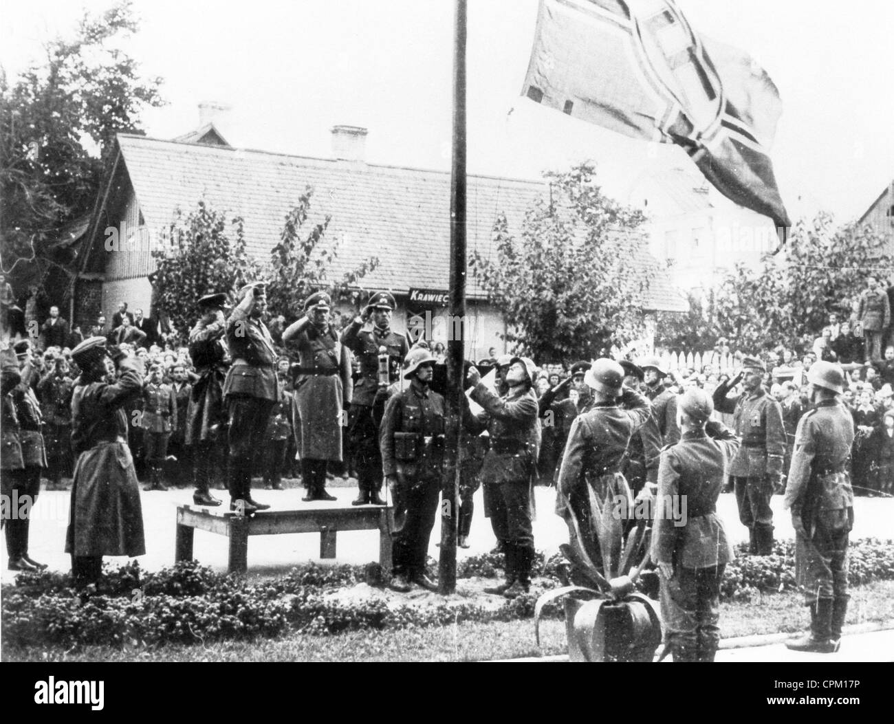 The evacuation of Brest-Litovsk, 1939 - Stock Image