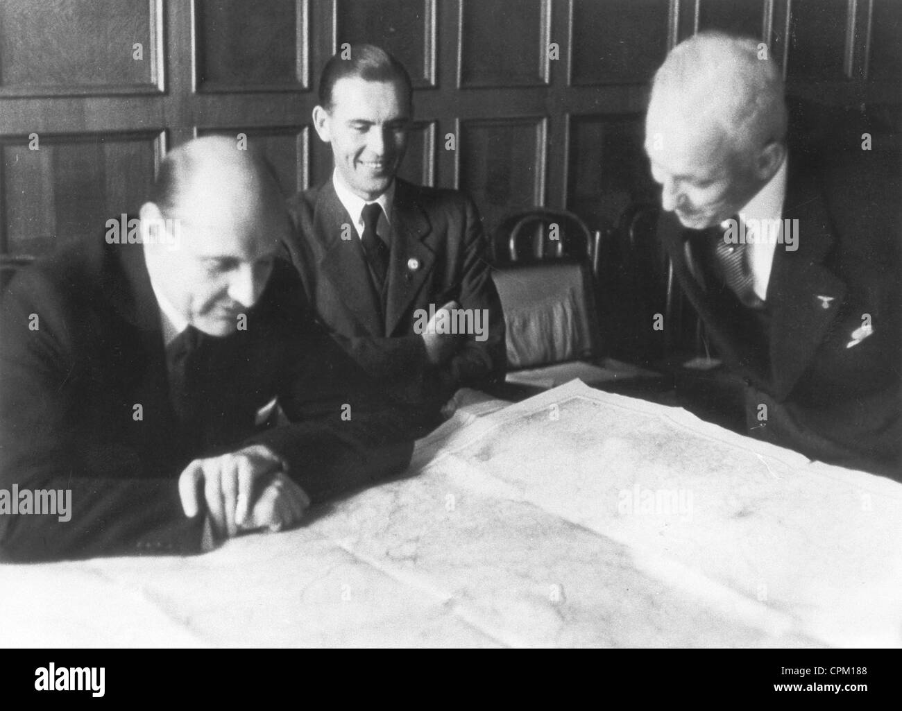 Determination of the Russian-German demarcation line in Poland, 1939 - Stock Image