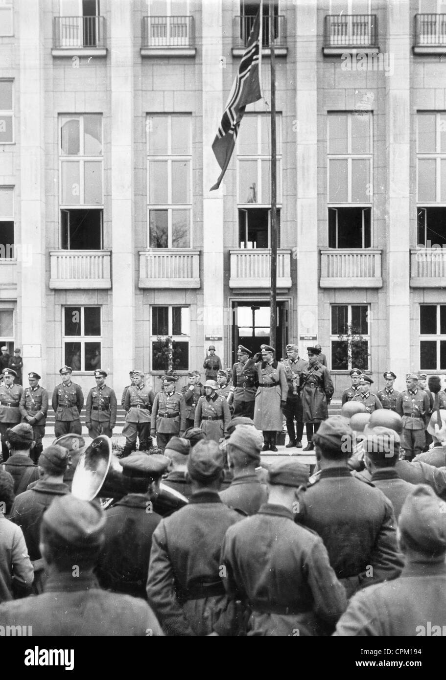 Parade at the withdrawal of the Germans from Brest-Litovsk, 1939 - Stock Image