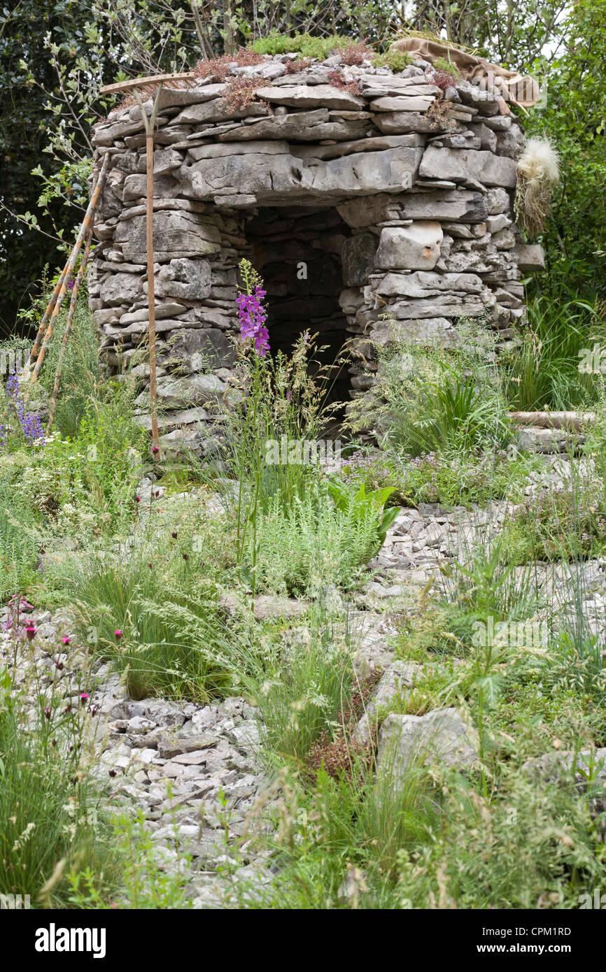 Stone cottage. Stock Photo