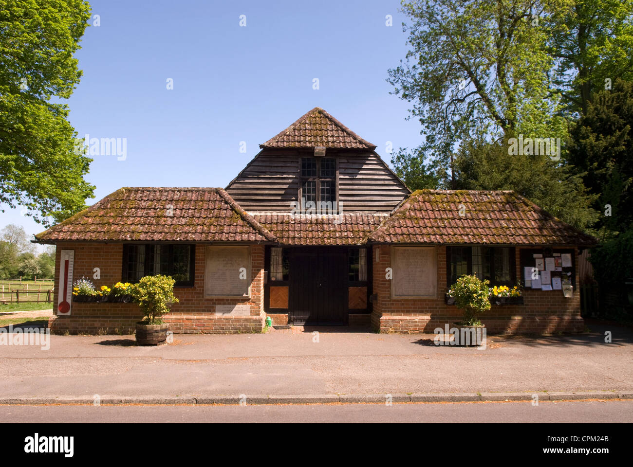 Village Hall in the rural village of Chawton, Hampshire, UK. - Stock Image