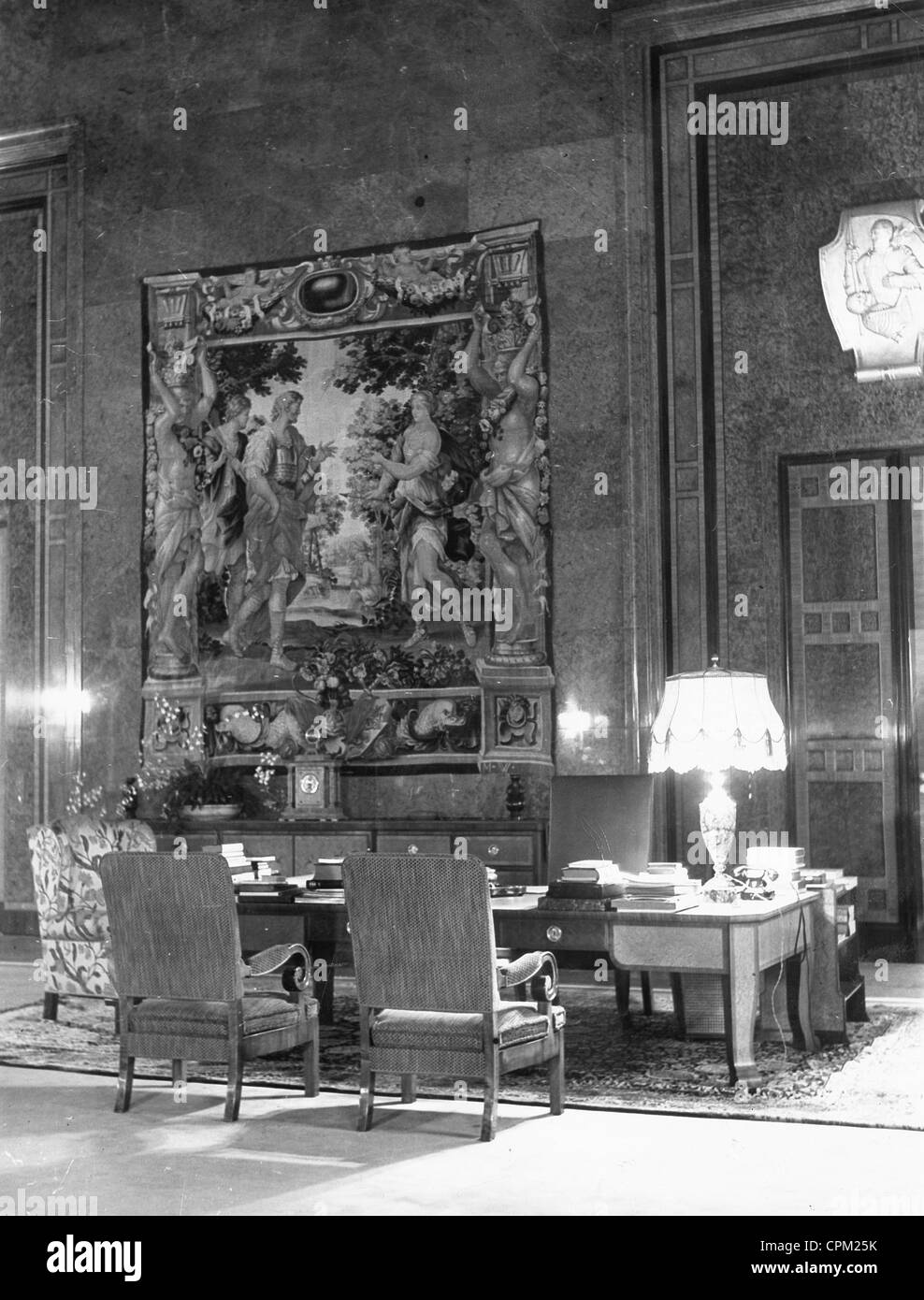 The Study Of Adolf Hitler In The Reich Chancellery In