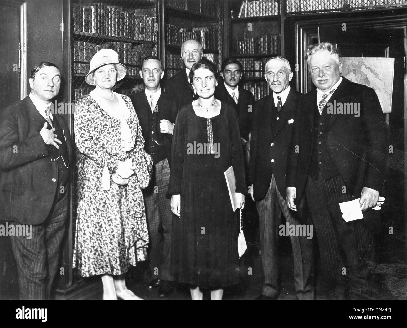 Anna Freud receives the Goethe award for her father Sigmund Freud, 1930 - Stock Image