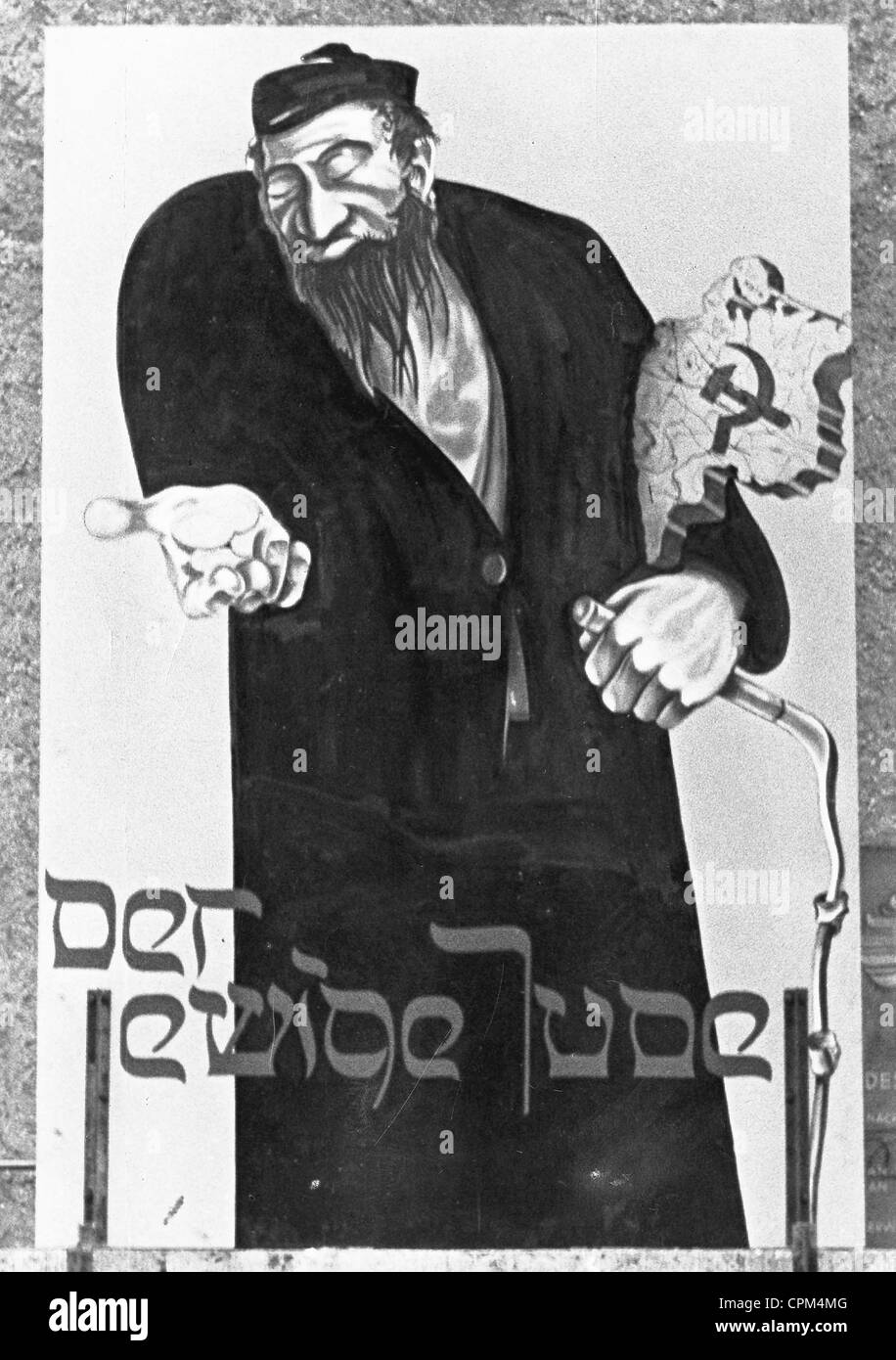 Propaganda poster for the film 'The Eternal Jew', 1940 - Stock Image