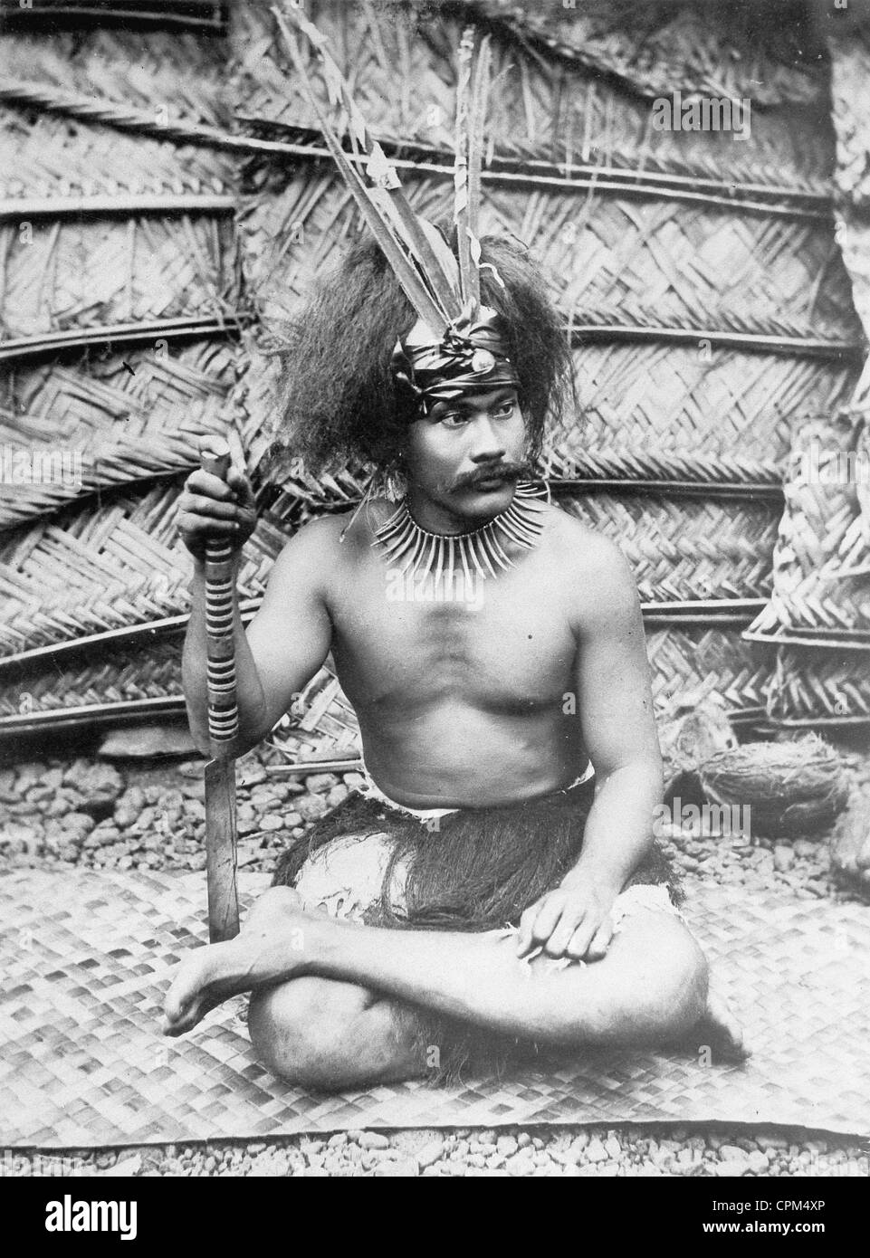 Chieftain Muliufi from Samoa - Stock Image