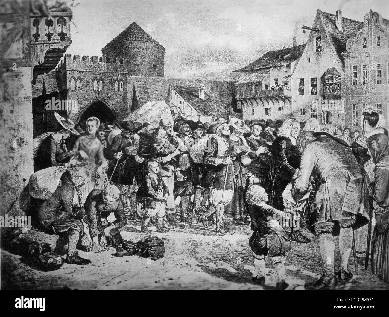 The settlement of Protestants from Salzburg in Prussia, 1731/1732 - Stock Image