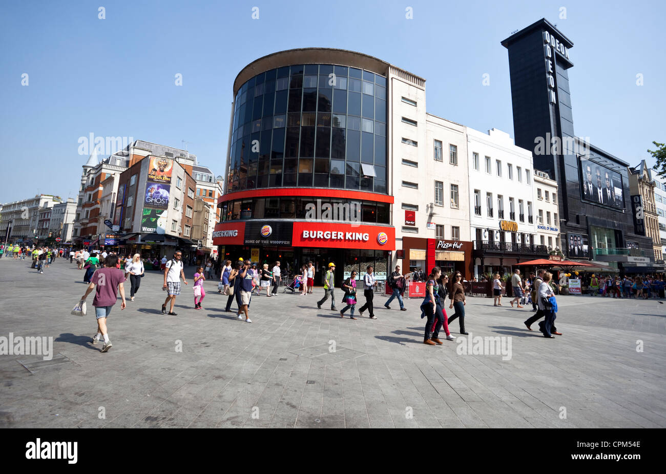 Leicester Square daily city life, London, England, UK - Stock Image