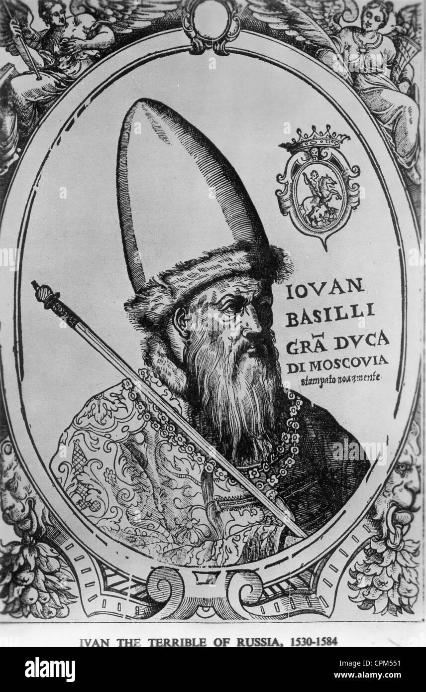 Tsar Ivan the Terrible, 1530-1584 - Stock Image