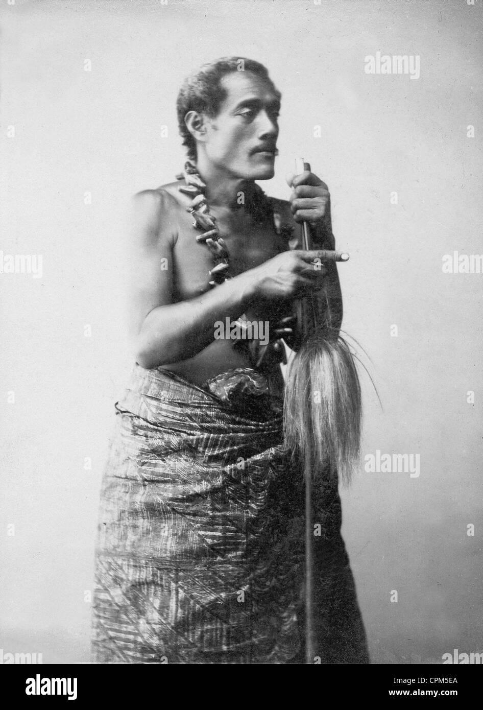 Lanati, Samoan chieftain, 1903 - Stock Image