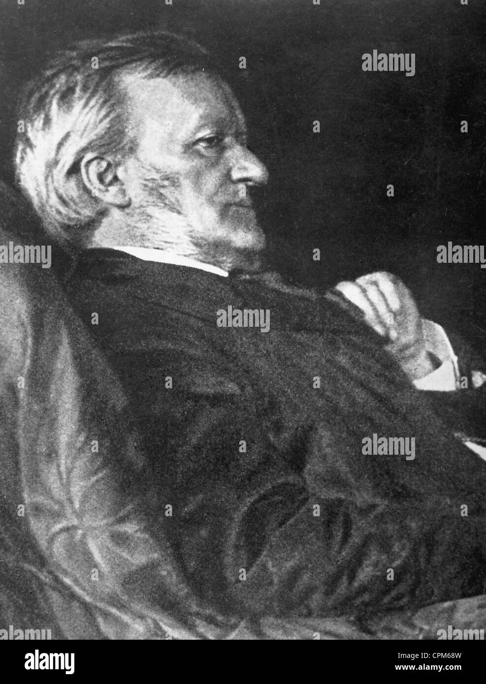 Richard Wagner, 1882 - Stock Image