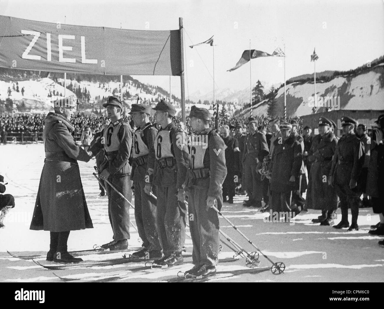 Olympic winter games in Garmisch-Partenkirchen, 1936 Stock ...
