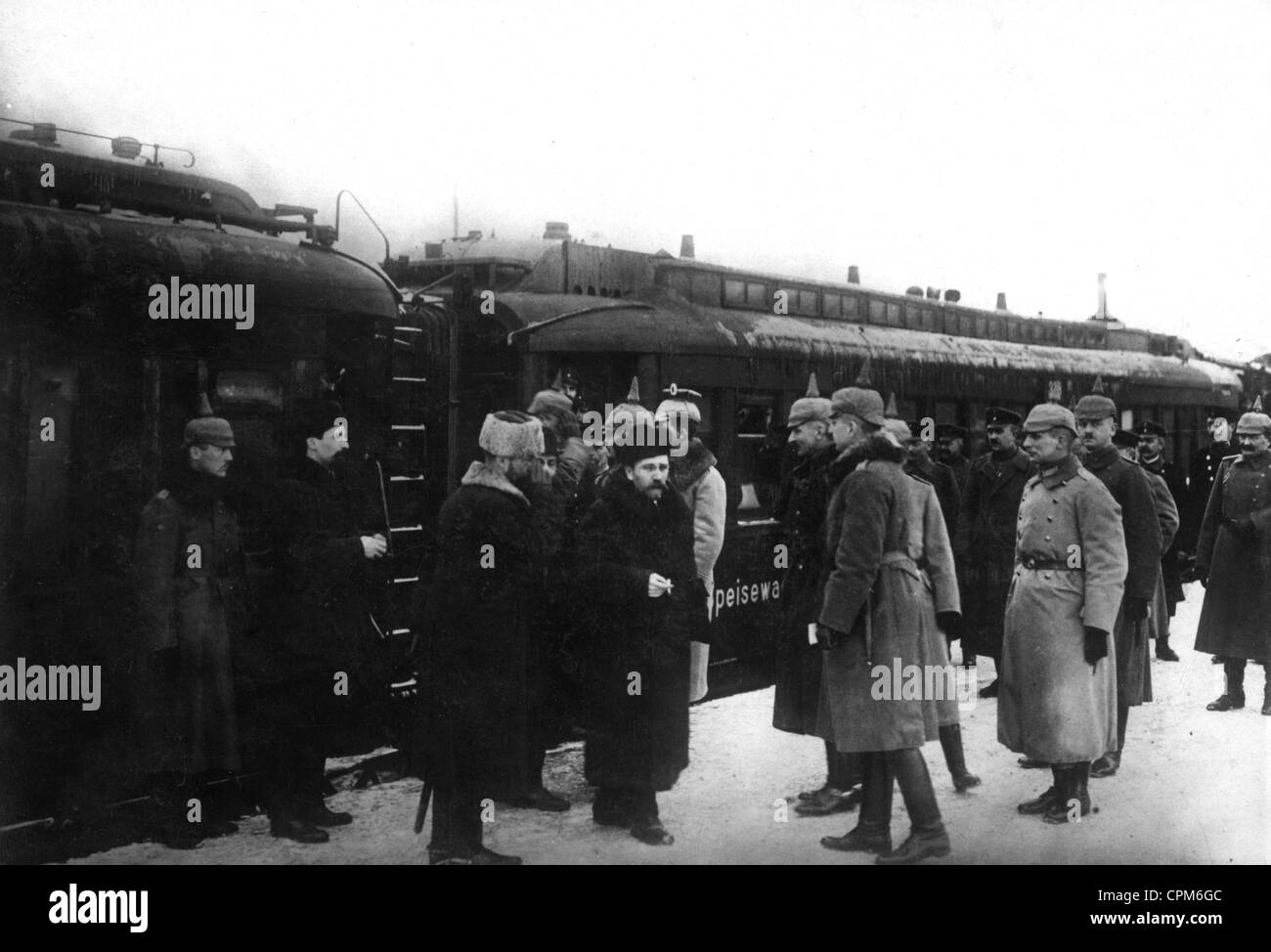 Peace negotiations in Brest-Litovsk, 1917 - Stock Image