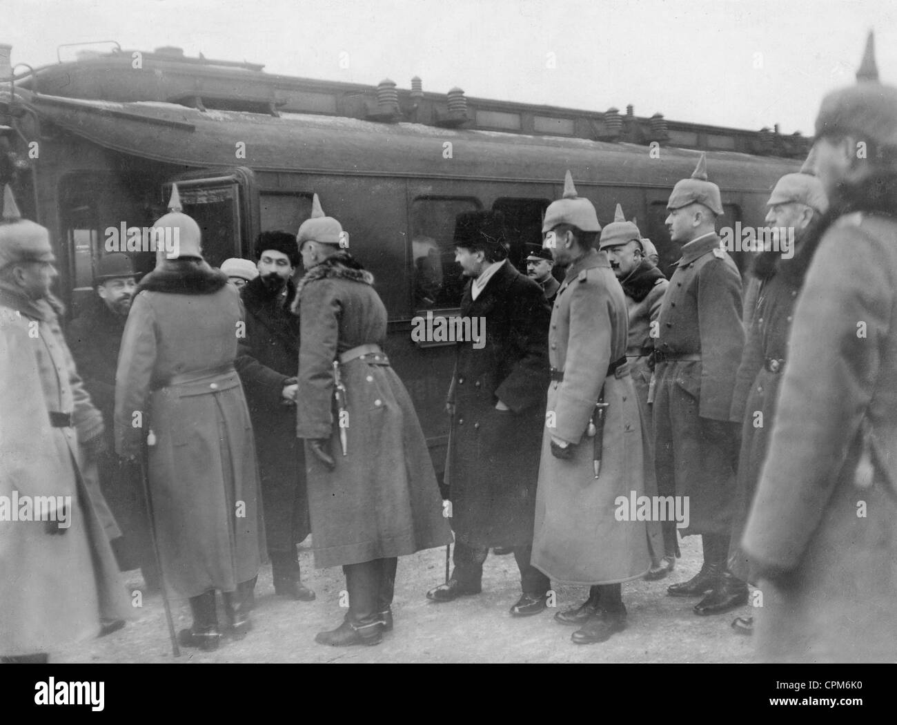 Reception of the Russian delegation in Brest-Litovsk, 1918 - Stock Image