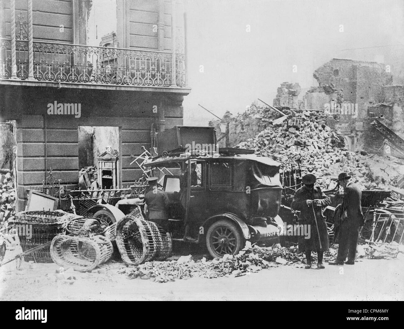 Easter Riots in Dublin, 1916 - Stock Image