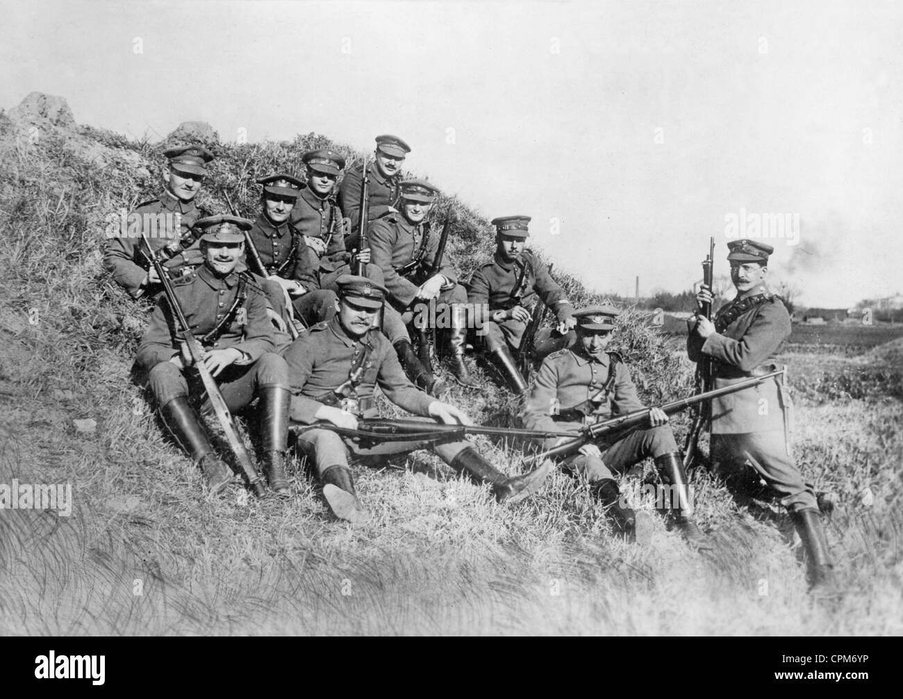 Civilian militia of Tsingtao, 1914 - Stock Image