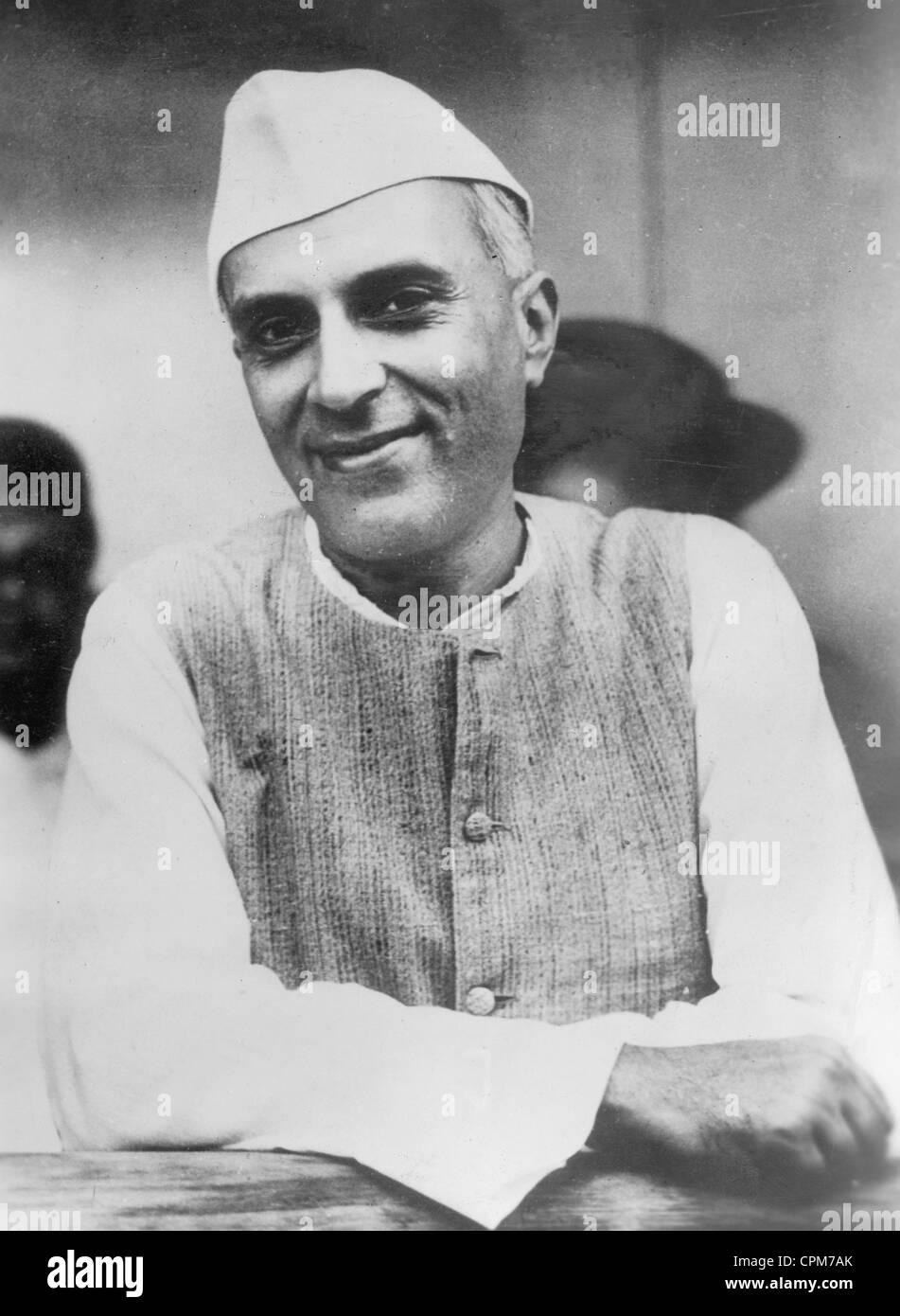 Pandit Nehru, 1937 - Stock Image