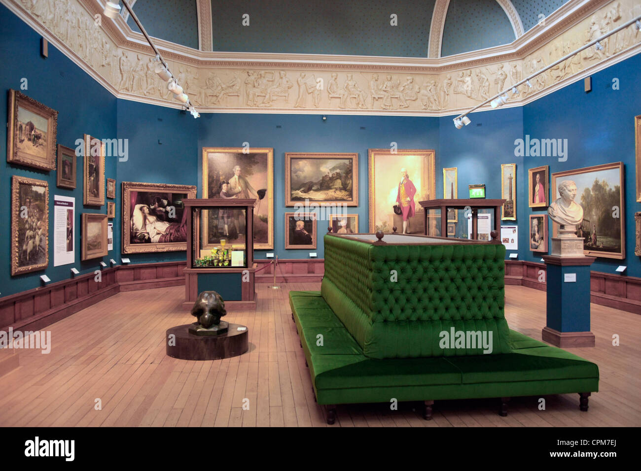 The Victoria Art Gallery collection in Bath England - Stock Image