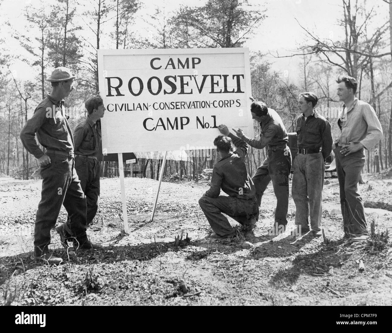 Camps of the Civilian Conservation Corps, 1933 - Stock Image