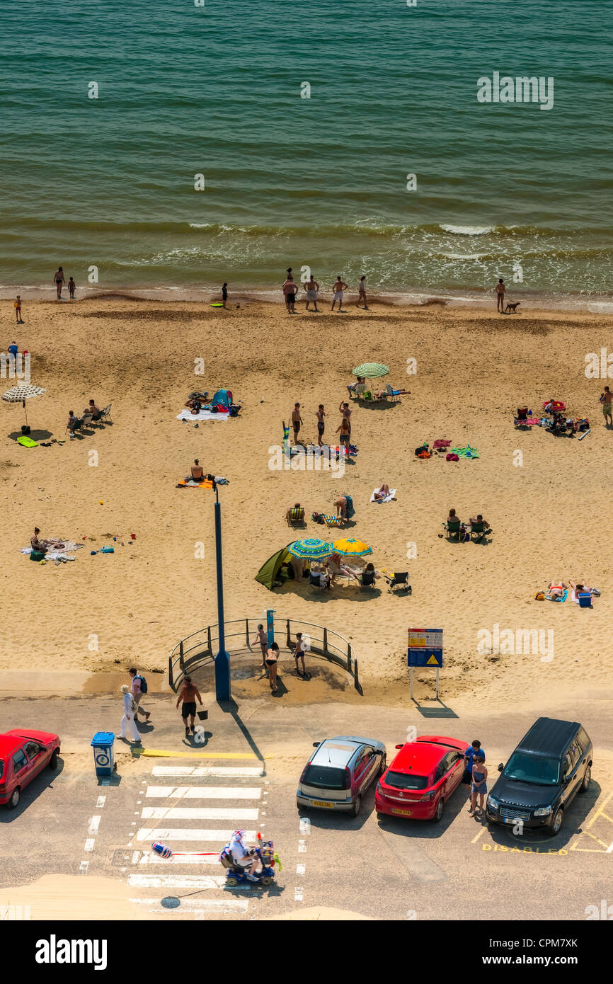 British Beach Scene - Stock Image