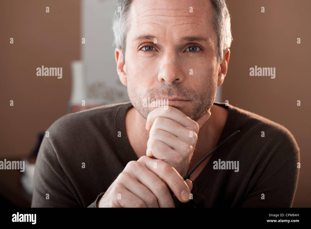 PORTRAIT OF A MAN, 40/50 - Stock Image