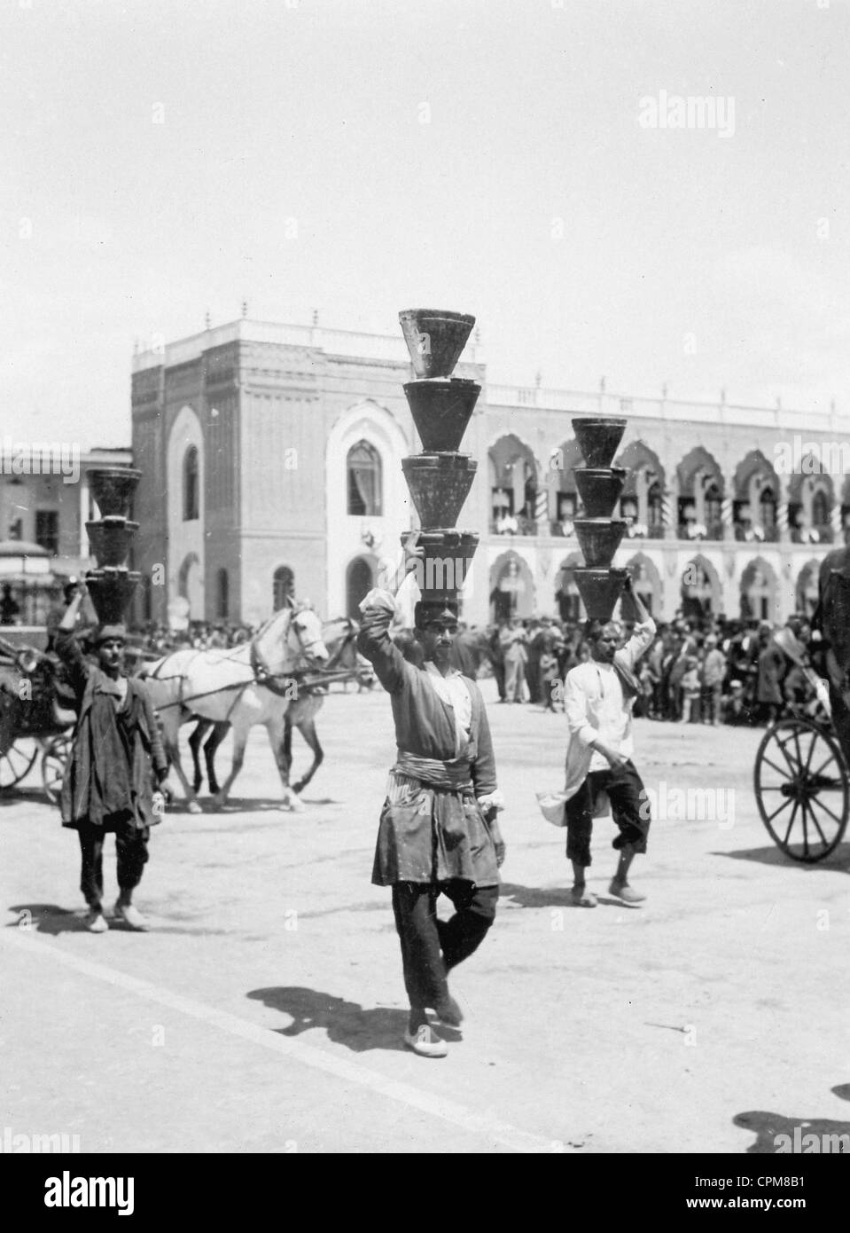 Porters in Persia, 1935 - Stock Image