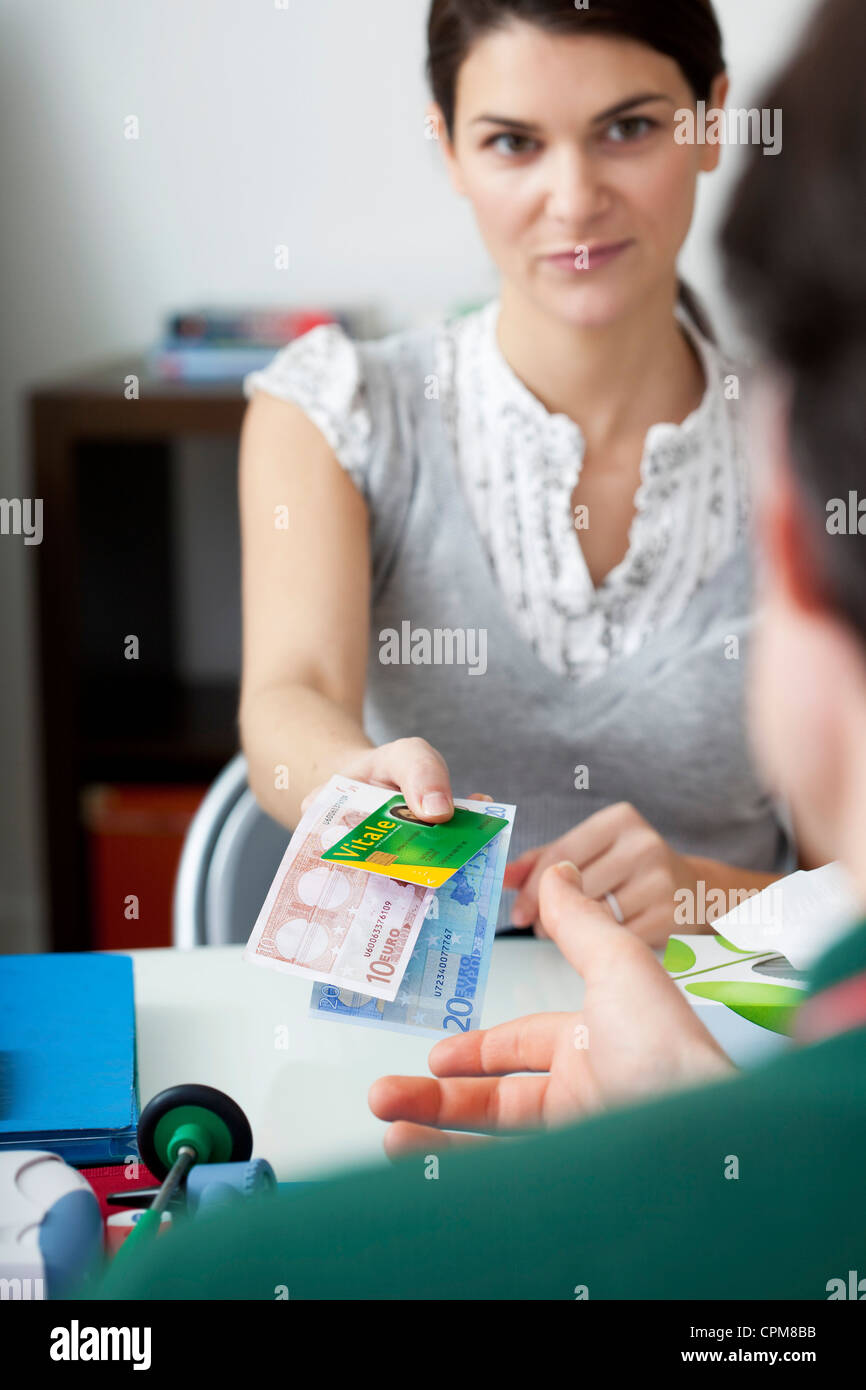 DOCTOR'S FEE - Stock Image