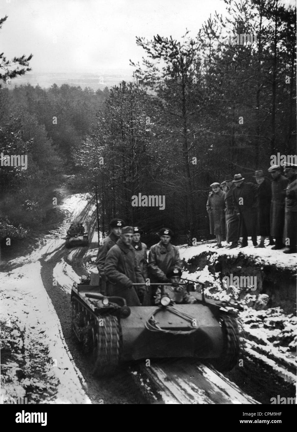Demonstration of a driving school version of a Panzer I, 1935 - Stock Image
