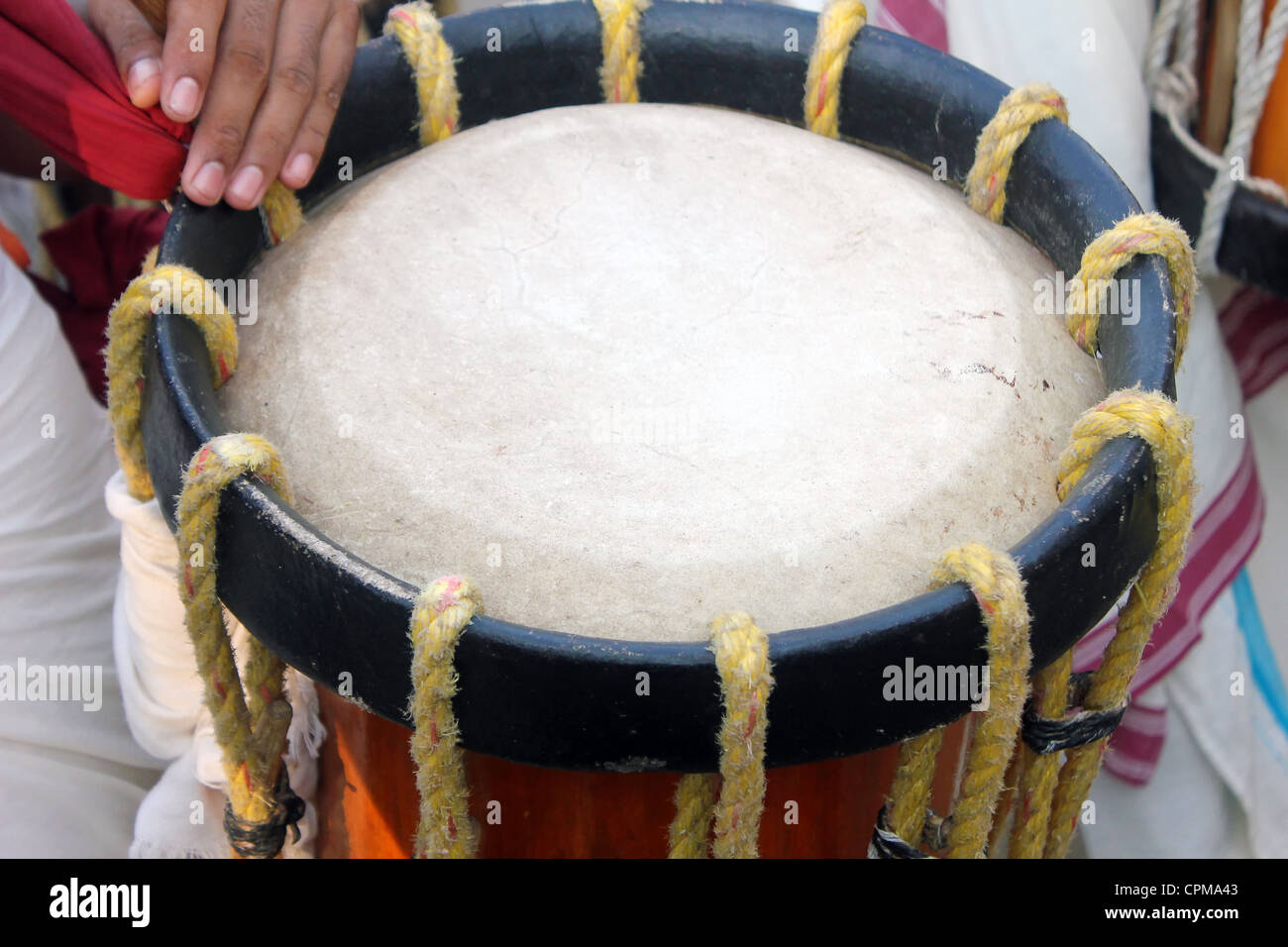 Close Of Drum Chenda A Traditional Musical Instrument Kerala Stock