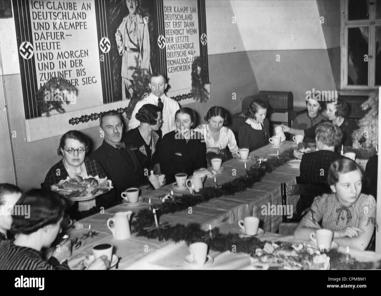 Advent celebration of the Nazi women's organization in Berlin, 1937 - Stock Image