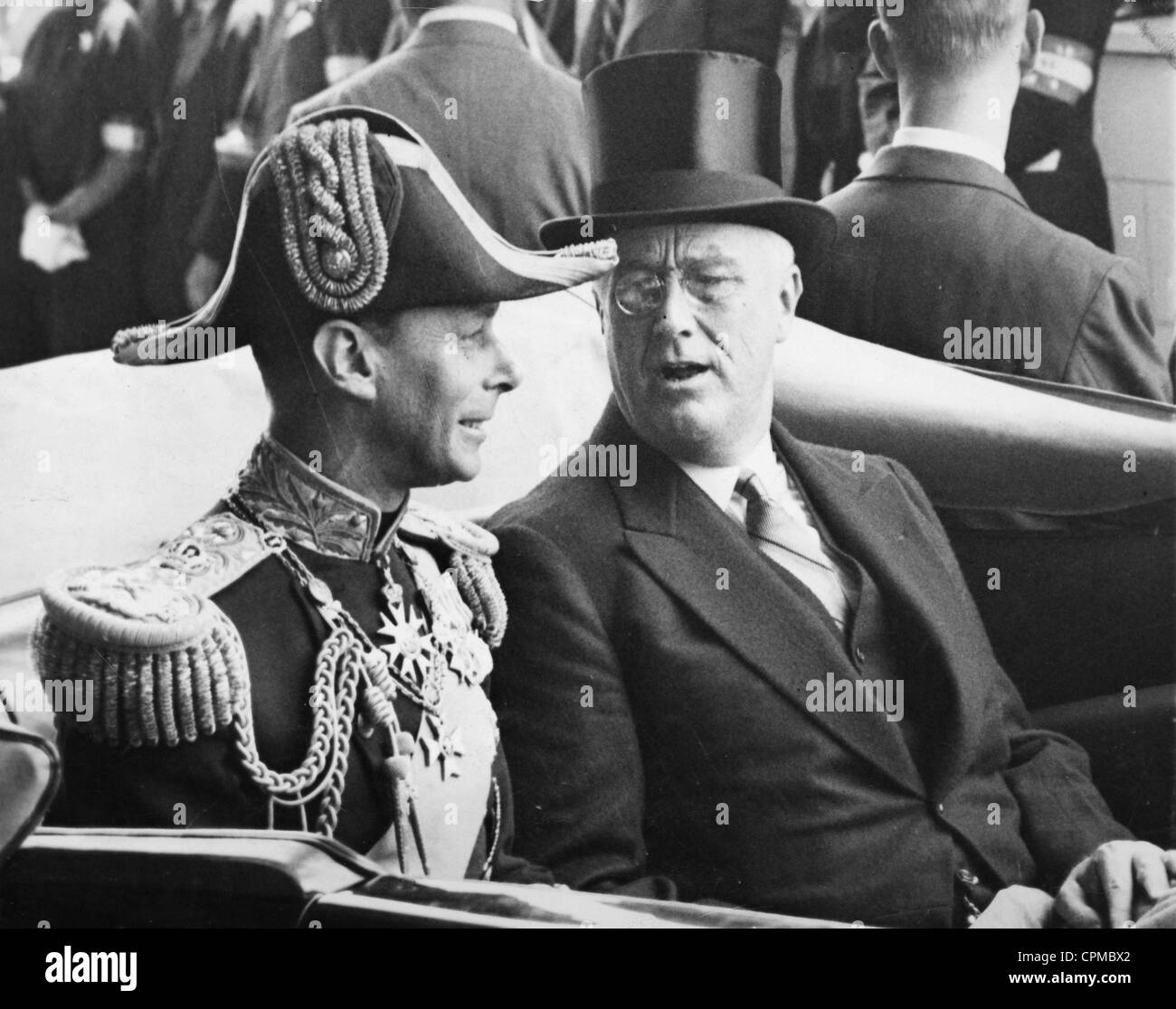 Franklin D Roosevelt With George VI Of Great Britain 1939