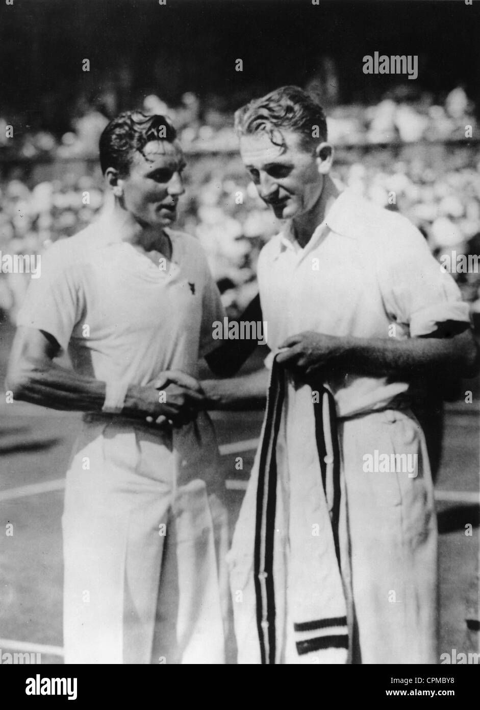 Fred Perry wins at Wimbledon, 1934 - Stock Image