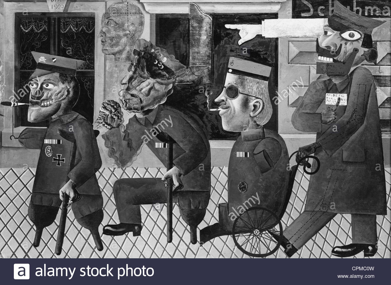 U0027War Cripplesu0027 By Otto Dix, 1920   Stock Image U0027
