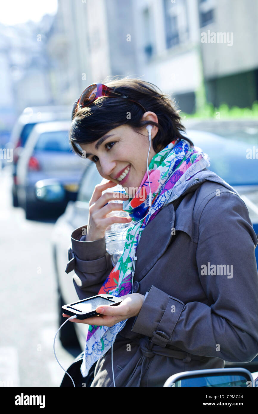 WOMAN ON THE PHONE - Stock Image