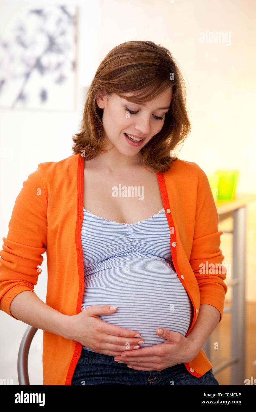 PREGNANT WOMAN - Stock Image